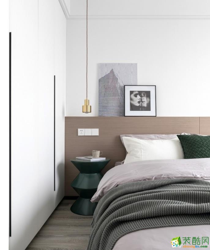 卧室  【乾美装饰】90平三居时尚混搭风格