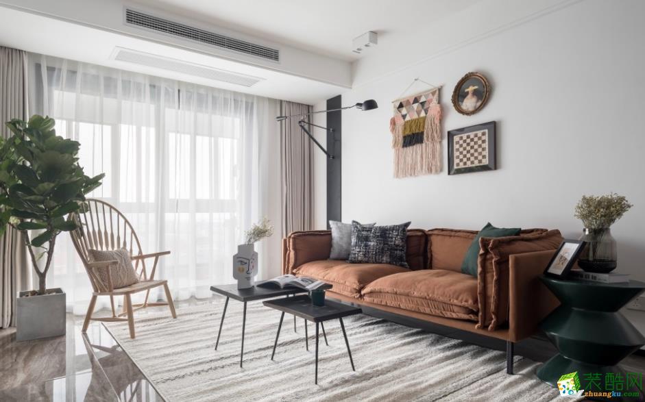 客厅  【乾美装饰】90平三居时尚混搭风格