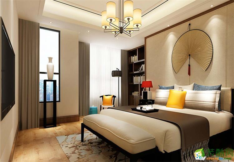 101平米三居室中式风格装修效果图