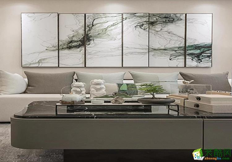 90平米三居室中式风格装修效果图