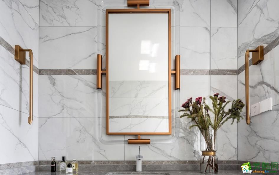 卫浴  【喜客喜装饰】280㎡四室新中式风格装修效果图