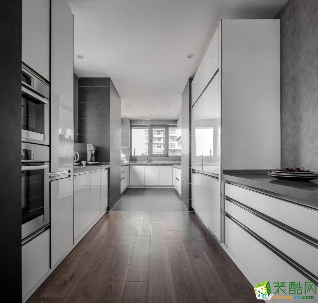 厨房  【喜客喜装饰】280㎡四室新中式风格装修效果图