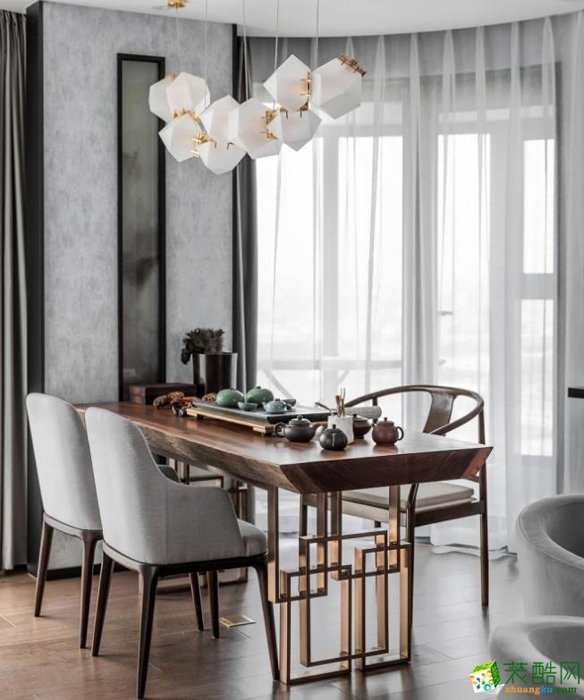 餐厅  【喜客喜装饰】280㎡四室新中式风格装修效果图