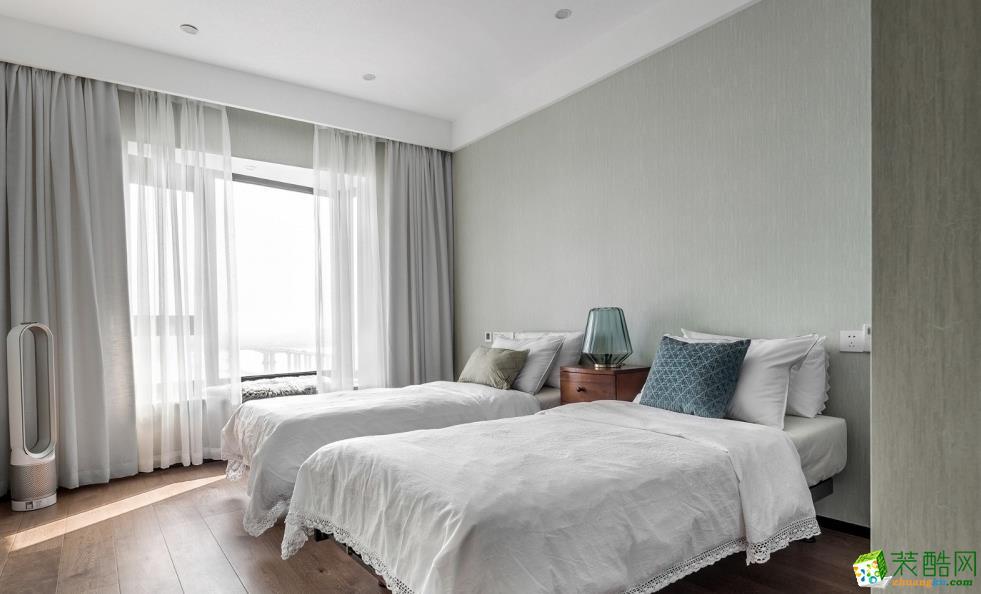卧室  【喜客喜装饰】280㎡四室新中式风格装修效果图