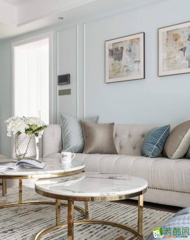 客厅  【居立方装饰】-140㎡三居室美式风格装修效果图