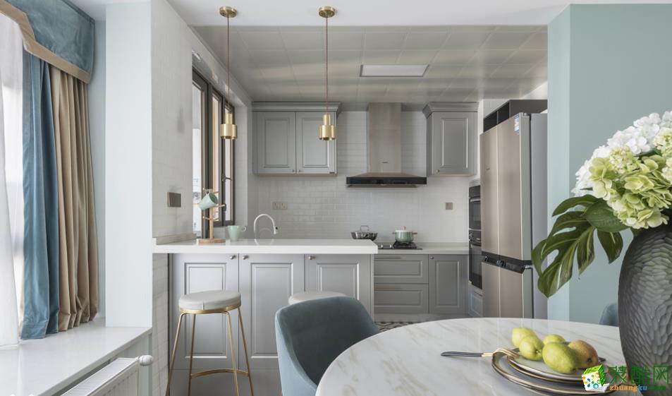 餐厅  【居立方装饰】-140㎡三居室美式风格装修效果图