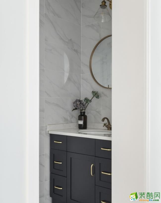 卫浴  【居立方装饰】-140㎡三居室美式风格装修效果图