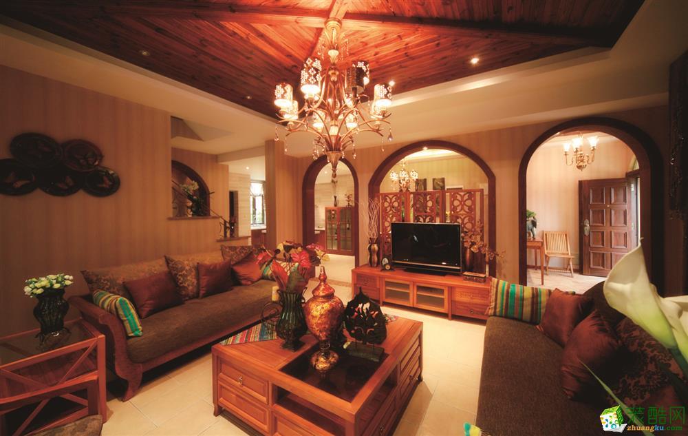 雅诺达装饰-玖著里东南亚风格136平装修案例效果图