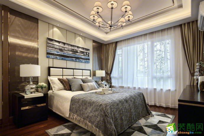 金地自在城128�O三室两厅简欧风格装修设计效果图