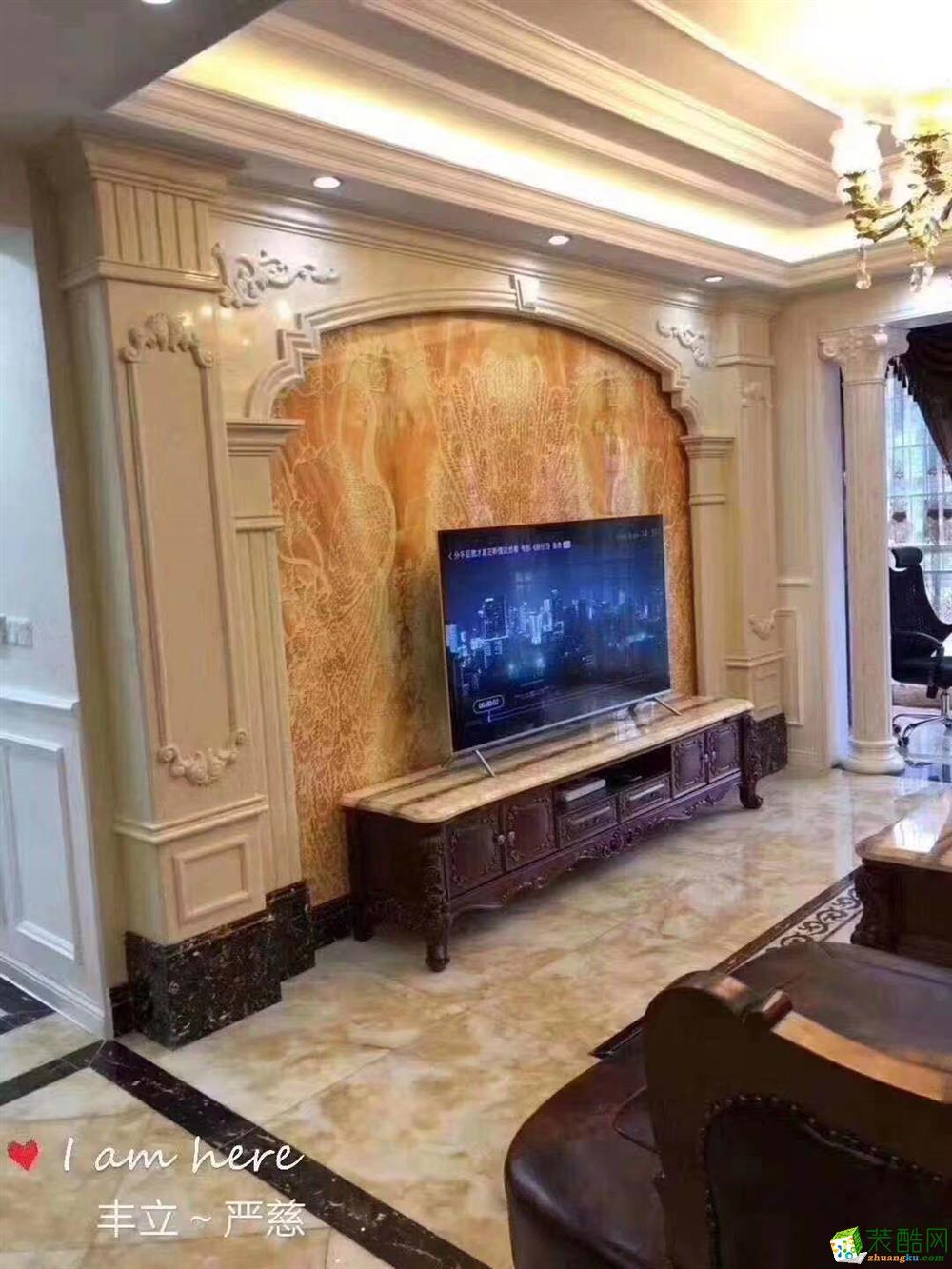 武汉丰立装饰-东湖一号135�O三室两厅欧式风格设计作品