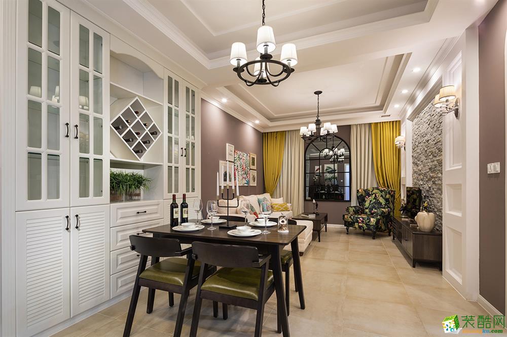 >> 重庆三室两厅装修-120平米简欧风格装修效果图-居联峰尚装饰
