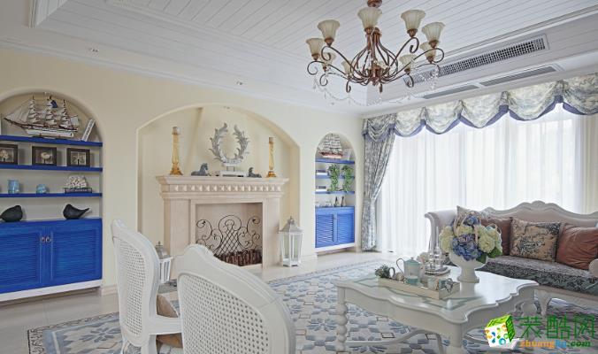 乐山龙发装饰-130平米地中海三居室装修案例