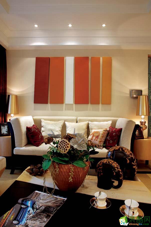 升豪装饰-合生国际城东南亚风格200平装修案例效果图