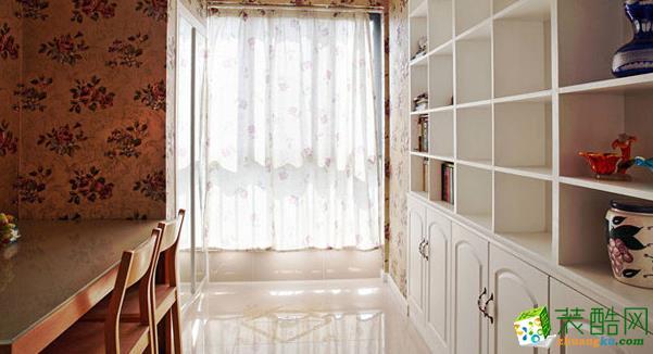 乐山龙发装饰-130平米欧式三居室装修案例