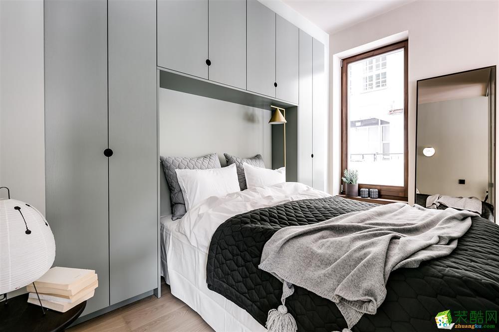武漢82㎡兩室兩廳一衛現代風格裝修設計效果圖