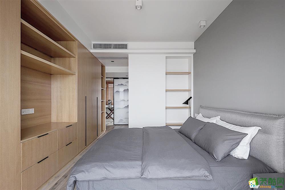 武漢86方三室一廳簡約現代風格裝修效果圖