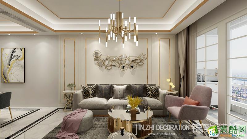 大富新领地72�O简欧风格两室两厅一卫设计