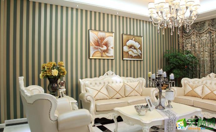 无锡大业美家装饰-125平米欧式三居室装修案例
