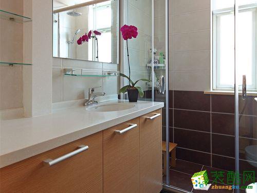 无锡紫苹果装饰-95平米现代简约两居室装修案例
