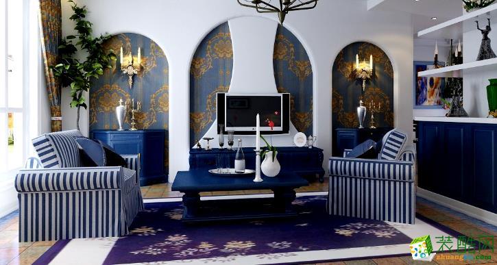 无锡金钥匙装饰-120平米地中海三居室装修案例