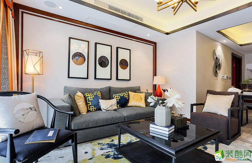 田园牧歌100�O三室一厅一卫新中式风格设计效果图