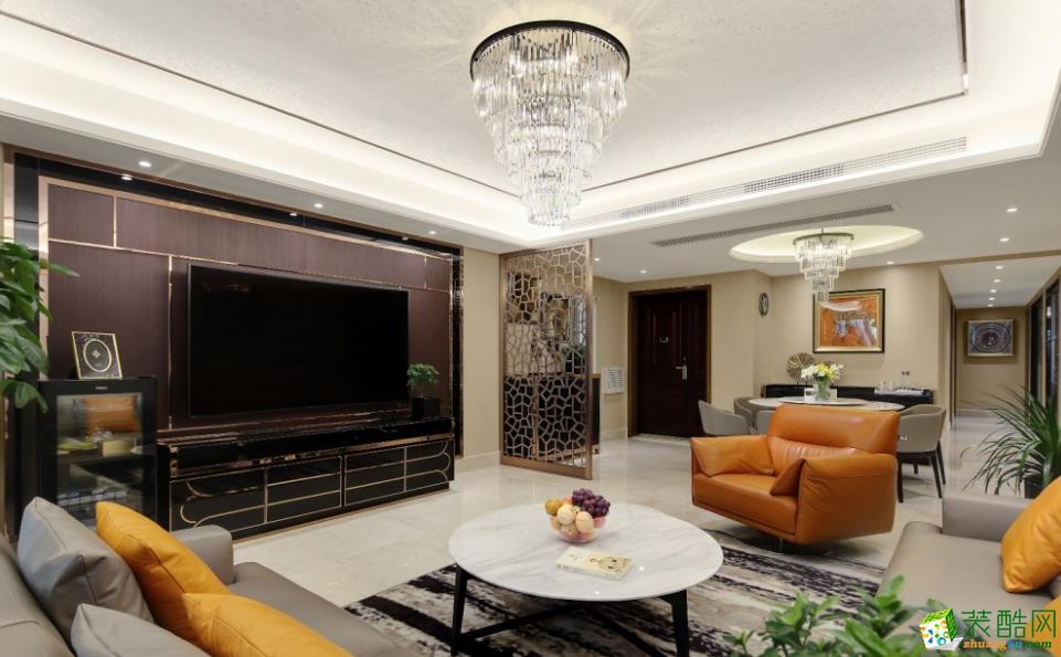 【大美装饰】170平三室两厅现代风格装修效果图