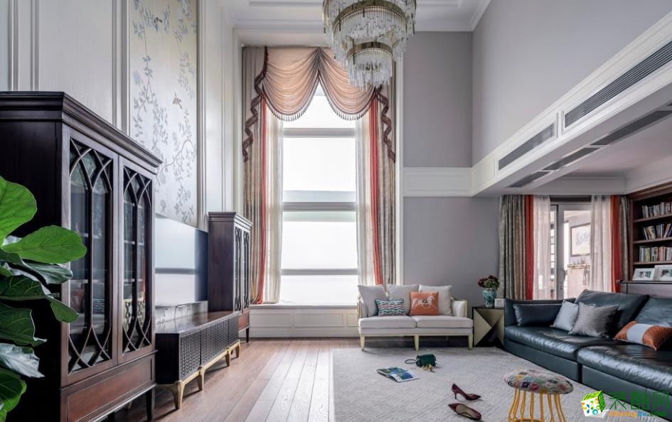 【天地億家】300㎡別墅美式風格裝修效果圖