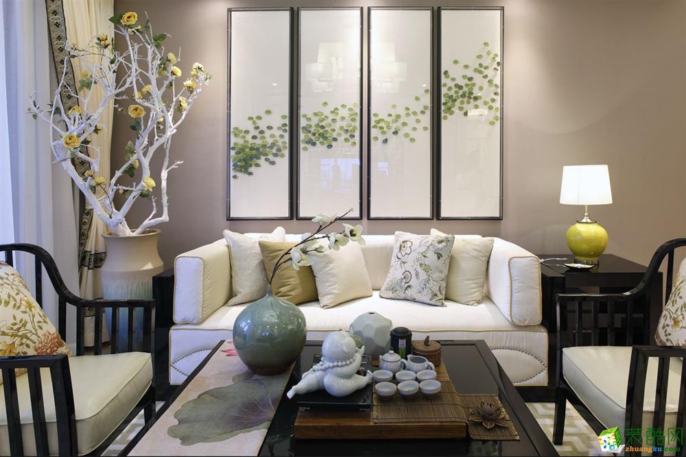 吉运美装饰-恒威海上花院东南亚风格149平装修案例效果图
