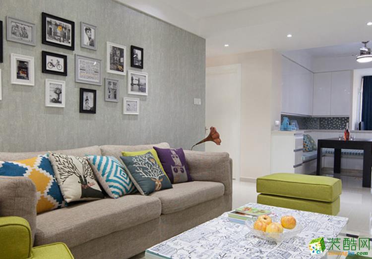110三居室现代风格装修效果图