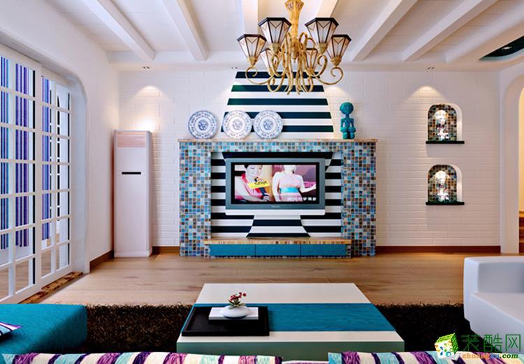 100平米三居室地中海风格装修效果图