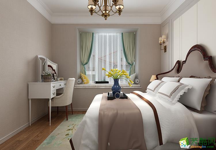 85平米二居室美式风格装修