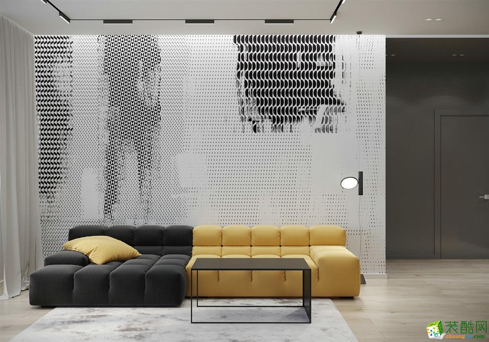 【南宁中庭装饰】盛邦珑湖 92平米 三居室两厅两卫 现代风