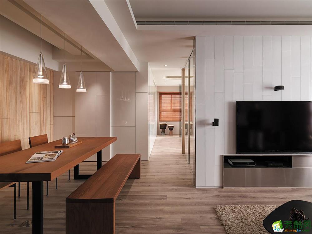 小小家装-中房未来盛园88平方装修案例效果图