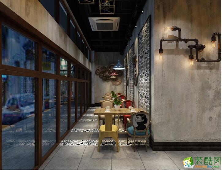 南宁餐厅装修—垄坤装饰75平工业风格装修效果图
