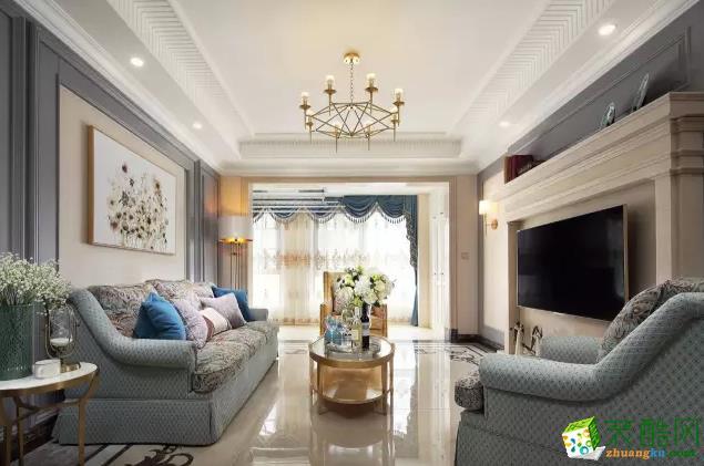 140�O美式风格三居装修设计案例――和轩装饰