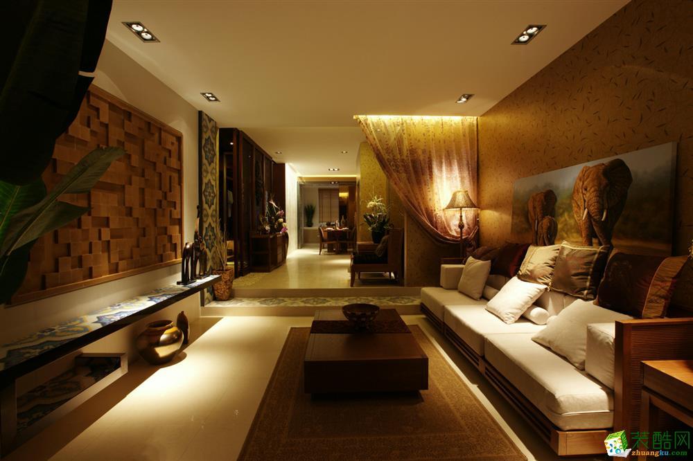 尔贝家装部装饰-皇冠花园126平中式风格_中式风格-三室两厅两卫