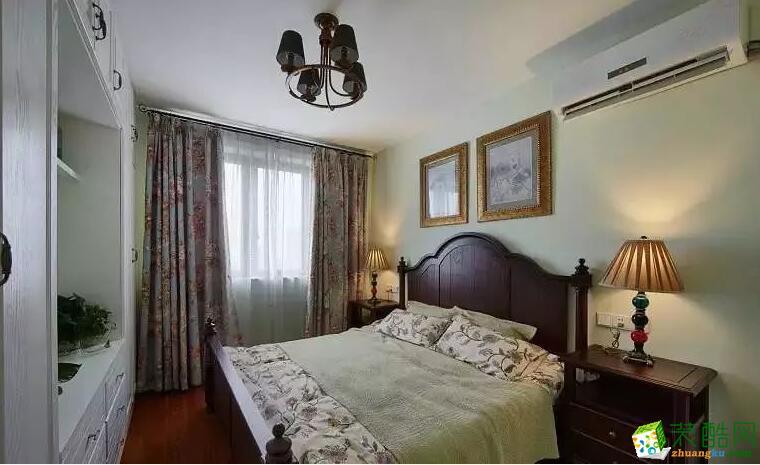 南宁两室一厅一卫装修―圣都装饰80平美式风格装修效果图
