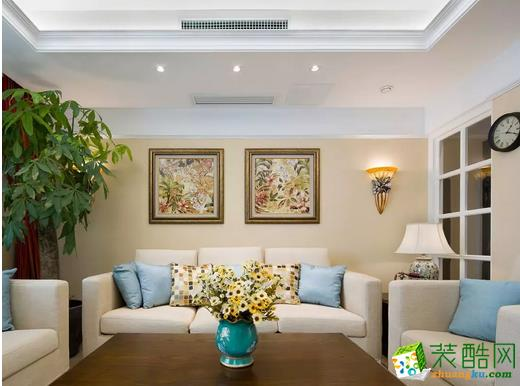 【筑皇庭装饰】新力上园 美式风格装修设计案例