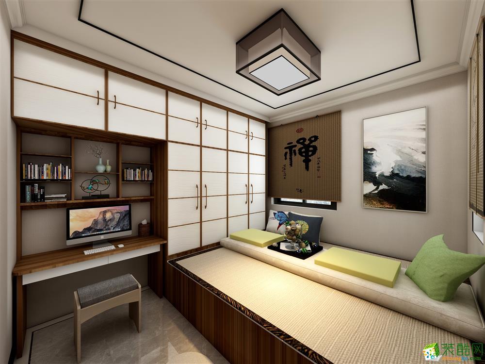 达膺装饰三室一厅一卫新中式风格装修效果图