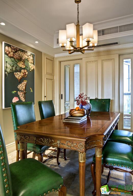 郑州两室两厅两卫装修―荣涛装饰88平美式风格装修效果图