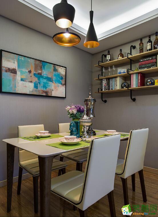 郑州两室一厅一卫装修―荣涛装饰70平平现代风格装修效果图