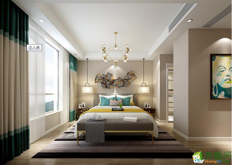 郑州三室两厅两卫装修―荣涛装饰180平现代简约风格装修效果图