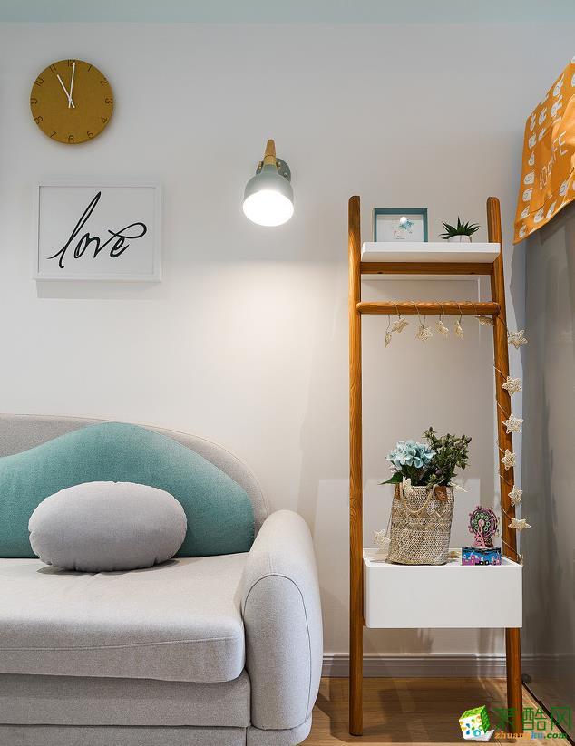 客厅  【大美装饰】70平loft混搭风格装修