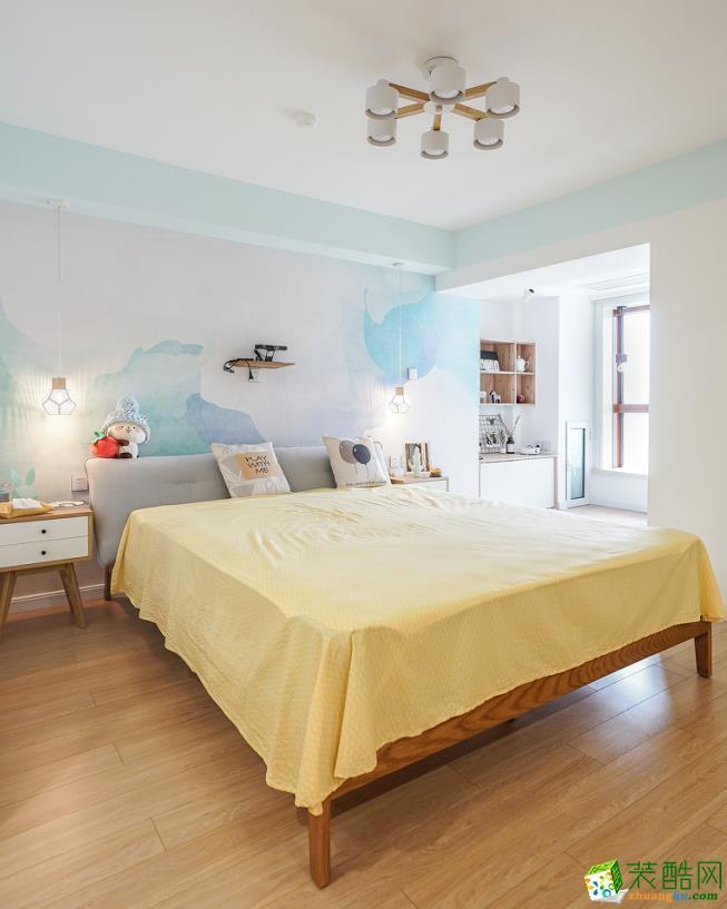 卧室  【大美装饰】70平loft混搭风格装修