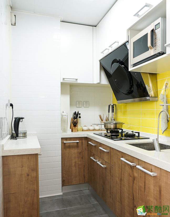 厨房  【大美装饰】70平loft混搭风格装修