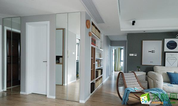 济南鑫彩鸿装饰-95平米简约三居室装修案例
