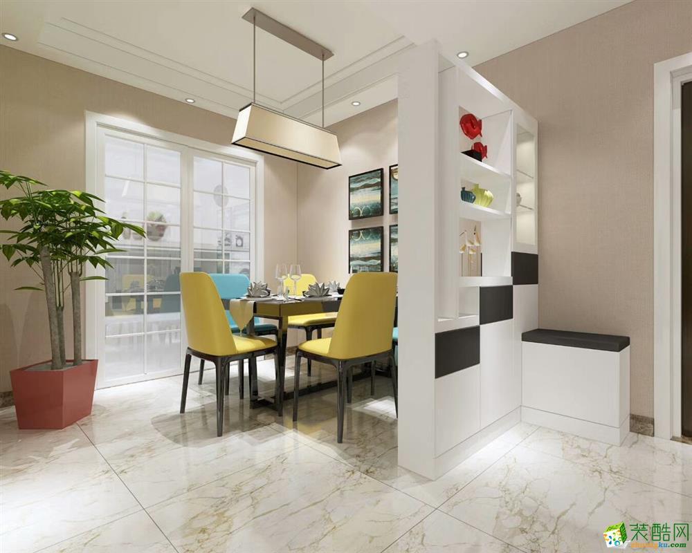 济南鑫彩鸿装饰-130平米三居室装修案例
