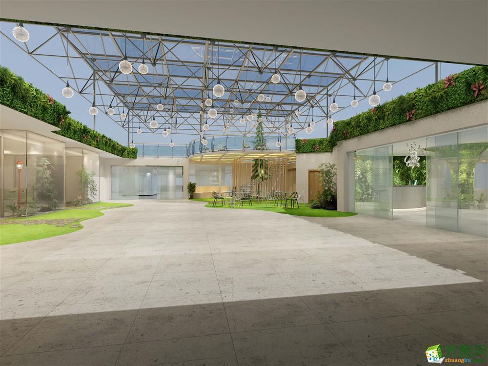 成都寫字樓裝修-2000平米大型辦公樓裝修效果圖-九州天譽