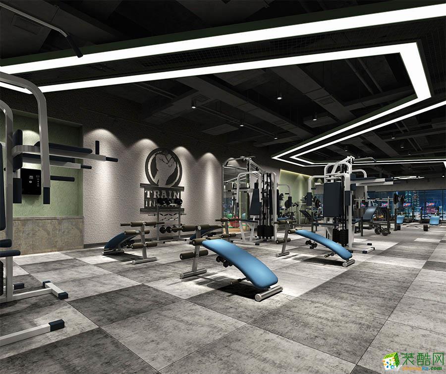 成都健身房装修-1200平米大型健身房装修效果图-九州天誉