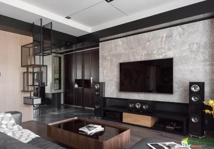 天地億家-135㎡三室現代風格裝修效果圖